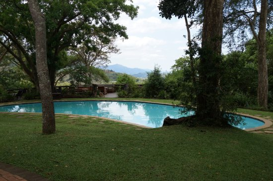Piggs Peak, Swaziland: Pool der Phophonyane Eco Lodge