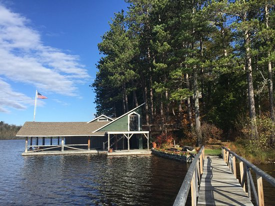 Paul Smiths, NY: New boat house, with boats for guests' use