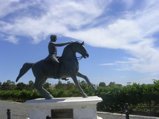 This is the Barossa Colonel Light Monument at Lyndoch