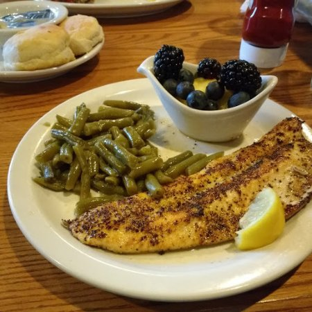 Cracker Barrel: Grilled Rainbow Trout, my new favorite!