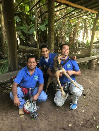 Granada, Nicaragua: the guides and MANUEL the zip lining dog!