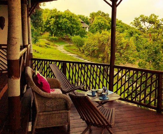 Kutani, Tanzania: This is the private balcony in our two person villa suite.