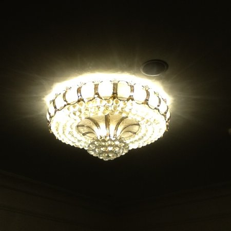 Terrace Hotel, BW Premier Collection: These crystal ceiling lights are a feature in each room/suite and also throughout the hotel