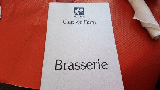 Brasserie Le Cardinal: La carte