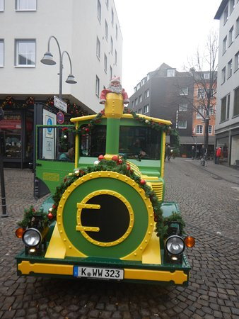 The Christmas Market Express outside the hotel entrance.