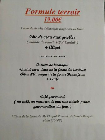 Massiac, فرنسا: Le Relais