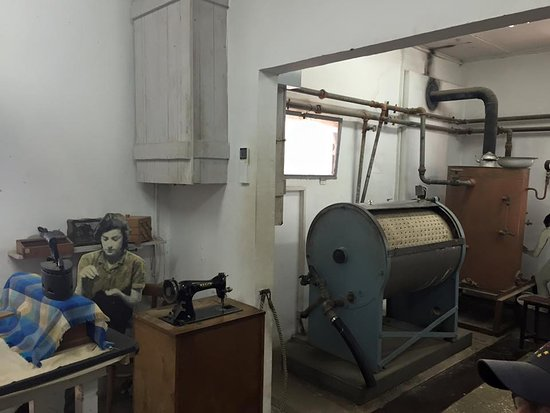 Ayalon Insute Museum Kibbutz Laundry Room With The Old Fashioned Washing Machine Which You Turned