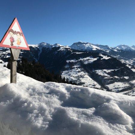 Furna, Schweiz: Rund ums Chalet Riedji