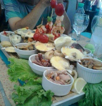 Playa Union, อาร์เจนตินา: Picada para cuatro