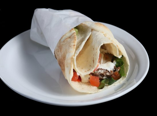 Falafel Pita (Options also include Souvlaki or Shawerma (Beef or Chicken) & Kafta