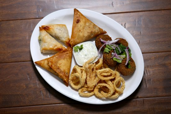 The Kasbah Mediterranean: Hot Mezes Plate