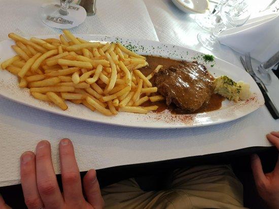 Seingbouse, France : Entrecôte sauce dijonnaise