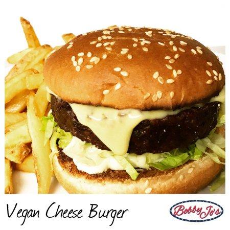 Bobby Jo's  Diner: VEGAN Cheese Burger