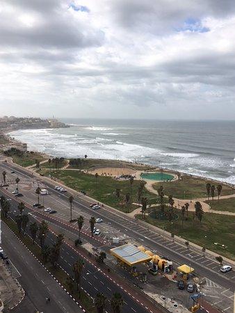 Dan Panorama Tel Aviv: View from the 18th floor of the Dan Panorama. Jaffa in the distance.