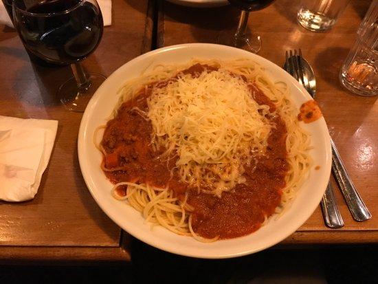 Strombeek-Bever, Belgien: Very good Spaghetti Bolognese.