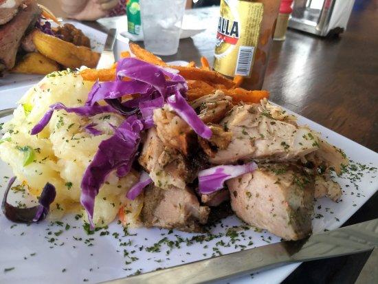 Hormigueros, Puerto Rico: Yuca, pork, and batata fries
