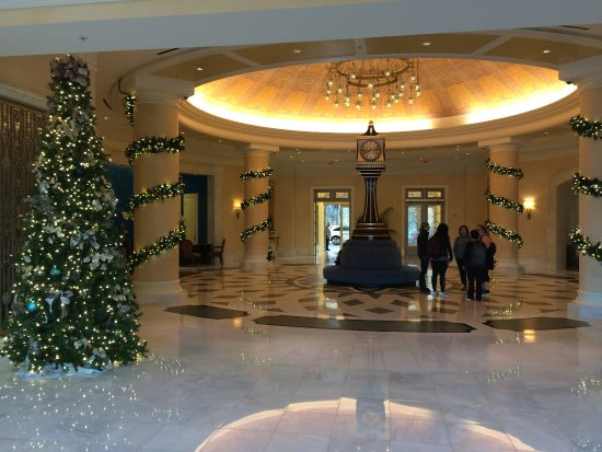 Lobby Christmas Decorations Picture Of Waldorf Astoria Orlando
