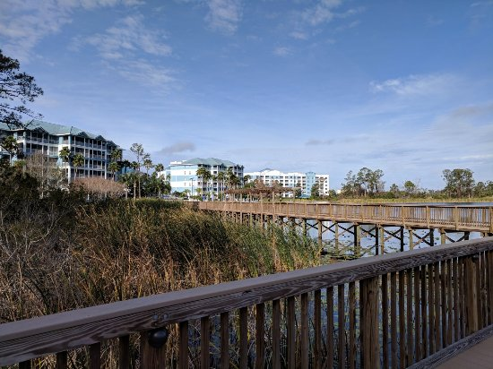 Bluegreen Fountains Resort: Boardwalk