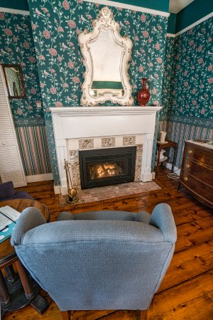Wallingford Suite Fireplace in sitting area...