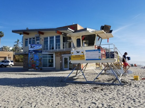 Moonlight Beach: The Mural is part of the new Lifeguard Offices