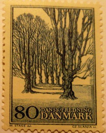Haslev, Dinamarca: Holte Alle ved Bregentved på frimærke i 1966