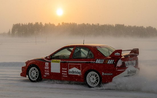 Mitsubishi Evo 6 Rally Car In Action Picture Of 4move Ice Driving