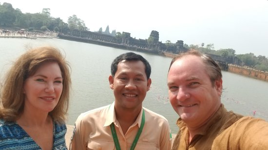 Holystone Angkor Travel&Tours: At Angkor Wat with Vithyea our private tour guide - the best!