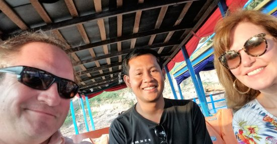 Holystone Angkor Travel&Tours: Private boat to the floating village with our tour guide Vithyea