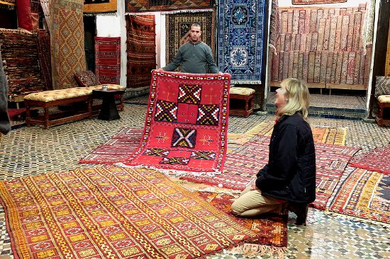 Marrakech, Marokko: Local place where to buy rugs!