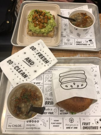 mushroom barley soup and avocado toast - Picture of by CHLOE. SoHo ... 7cece0838c1c