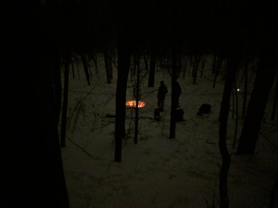 Dundas, MN: Campfire and hot chocolate