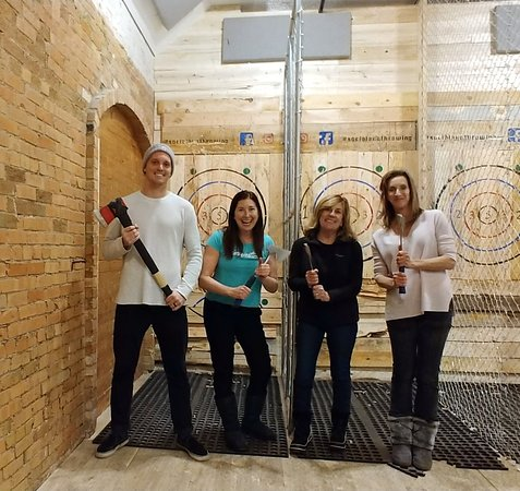 Ogden, UT: We LOVED Social Axe Throwing! Next time I am calling my team: KISS MY AXE! Lisa Niver, We Said G