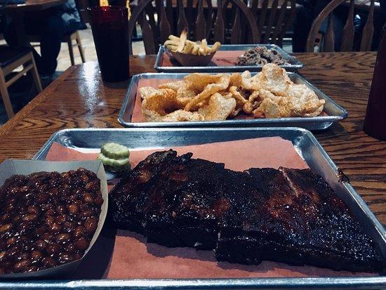New Baden, IL: award-winning ribs, beans, and homemade pork skins