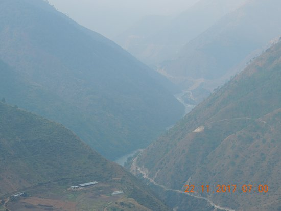 Trashigang, Bhutan: view from hotel ground