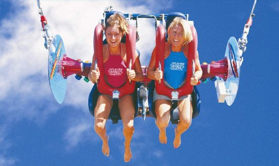 Sling Shot & Vomatron Amusement Rides Gold Coast