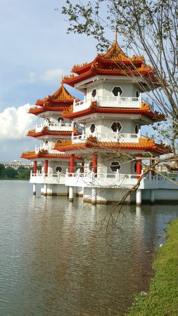 Chinese and Japanese Gardens: Twin Pagodas.