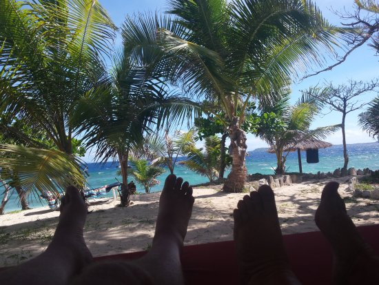 Navini Island, Fiji: the day bed view