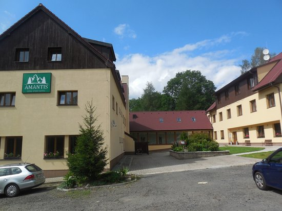 Desna, Czech Republic: Blick vom Parkplatz
