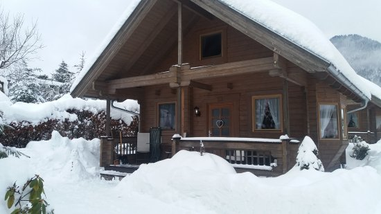 Our cozy Chalet at Mountain Inn - early morning after a night of heavy snow!