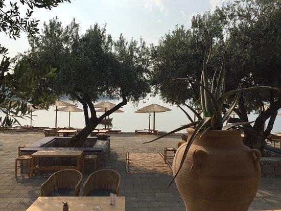 Korfos, กรีซ: EXO allday beach-bar and restaurant