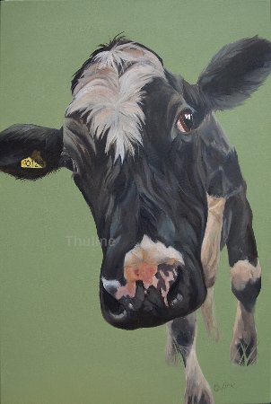 Kendal, UK: 'I won't grow up', oil on canvas, available as canvasprint, by Thuline