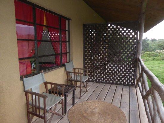 Ngorongoro Rhino Lodge: Terrace