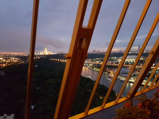 Sky Lounge: Вид с 22 этажа Академии Наук, Москва.