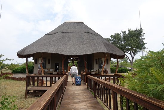 Ulusaba Private Game Reserve, Sudáfrica: Welcome pavilion.