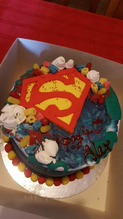 Superb Superman Birthday Cake Picture Of Manillas Neyland Tripadvisor Funny Birthday Cards Online Bapapcheapnameinfo