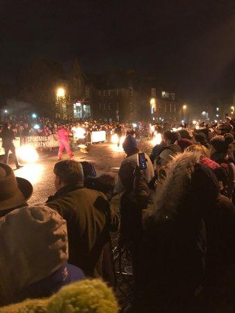 Stonehaven, UK: Stonehaven High Street Fireballs