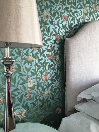 Gower View Luxury Bed Breakfast Arts Crafts Room William Morris Wallpaper