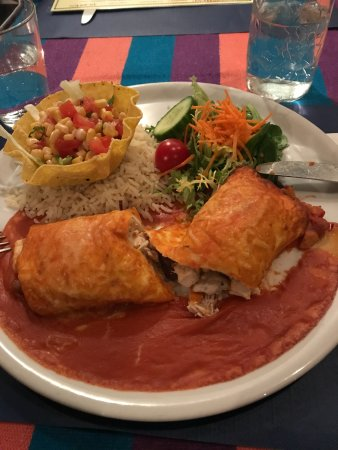 Vera Cruz : Dit was dus een tortilla met kip. Droog vanbinnen en saus, wel ik laat u dat zelf beoordelen.