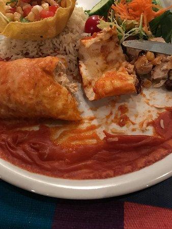 Vera Cruz : Saus is opgedroogd. Tortilla is droog.