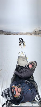 Oakley, UT: our musher Mac took this awesome photo of us
